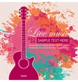 banner with an acoustic guitar vector image