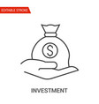 investment icon thin line vector image