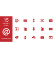 15 download icons vector image vector image