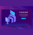 3d isometric gaming site entertainment vector image vector image