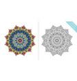 antistress coloring page mandala twelfth vector image vector image
