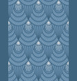 art deco blue pattern vector image vector image