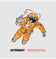 astronaut flying in space outline space vector image