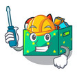 automotive children toy boxes isolated on mascot vector image