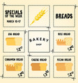 bakery flyer discount cards sale online ticket vector image