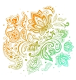 beautiful paisley background vector image