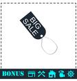 Big sale taf icon flat vector image vector image