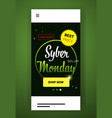 big sale template cyber monday banner special vector image