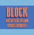 block bold font vector image vector image