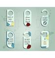 Brand identity elements- Door knob or hanger sign vector image vector image