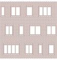 Brick facade pattern 1 vector image vector image