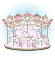 carousel la belle epoque cute merry go round vector image