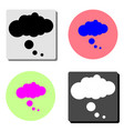 chat cloud dialog flat icon vector image