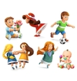 Children icons vector image vector image
