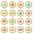 comic sound cloud set icons circle vector image vector image