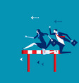 competition business people running and jumping vector image vector image