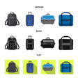 design of suitcase and baggage symbol vector image