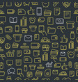 different network app icons seamless background vector image vector image