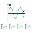 dotted sine plot flat icon
