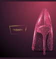 fashion low poly wireframe banner template vector image vector image