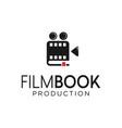 film movie book logo cinema symbol stock vector image vector image