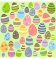 Green Easter seamless pattern with eggs vector image vector image