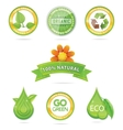 green nature emblems vector image