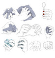hand action holding paper vector image vector image