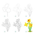 How to draw step step beautiful flower