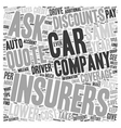 How to Save on Car Insurance text background vector image vector image