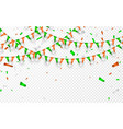 india flags garland white background with vector image