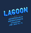 lagoon font and alphabet type vector image vector image