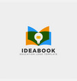 light bulb learning line logo template icon vector image vector image