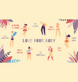 love your body best motivational slogan banner vector image vector image