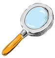 Magnifying glass search find icon vector image vector image