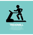 Man Running On A Treadmill vector image vector image