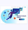 market analysis expert flat vector image vector image