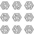 maze icon set vector image