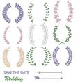mixed laurel wreaths vector image