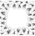 momo peach flower blossom border outline vector image vector image
