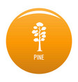pine tree icon orange vector image vector image