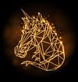 polygonal tirangle fantasy animal unicorn vector image