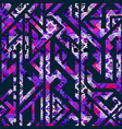 purple geometric seamless pattern vector image vector image