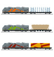 railway and container transport vector image vector image