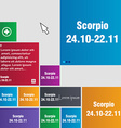 Scorpio icon sign buttons Modern interface website vector image vector image