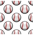 Seamless pattern of baseball balls