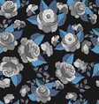 Seamless pattern with blue with blackbackground vector image