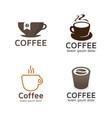 set coffee logos vector image vector image