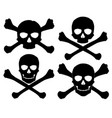 silhouette jolly roger vector image