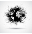 Splattered world black vector | Price: 1 Credit (USD $1)